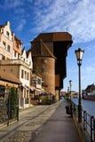 La grúa en Gdansk Fotos de archivo