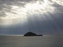 La grace vient à une île isolée Images libres de droits