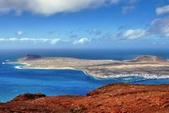 La Graciosa, Îles Canaries Photo stock