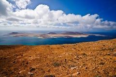 La Graciosa and clouds. Stock Image