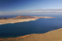 La Graciosa Island from Mirador del Rio. Royalty Free Stock Photo