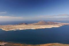 La Graciosa Island from Mirador del Rio. Stock Images