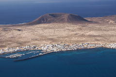 La Graciosa Island from Mirador del Rio. Stock Photos