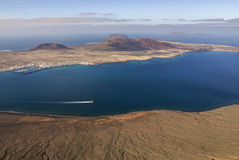 La Graciosa Island from Mirador del Rio. Royalty Free Stock Photography
