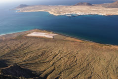 La Graciosa Island from Mirador del Rio. Royalty Free Stock Photos