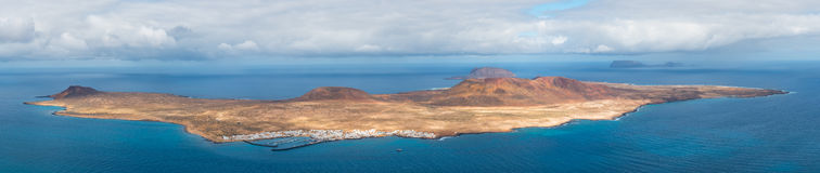 La Graciosa island panorama, Spain Royalty Free Stock Images