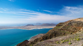 La Graciosa island view from Lanzarote Royalty Free Stock Photo