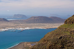 La Graciosa island view from Lanzarote Royalty Free Stock Photos