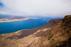 La Graciosa and Lanzarote Stock Image