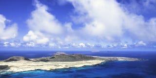 La Graciosa - Lanzarote, islas Canarias de la isla volcánica Fotografía de archivo