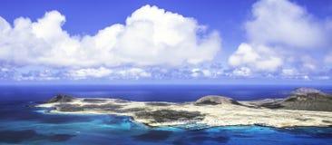 La Graciosa - Lanzarote, islas Canarias de la isla volcánica Fotografía de archivo libre de regalías