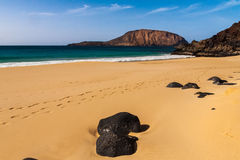 Tropical  paradise beach of Canary Royalty Free Stock Photography