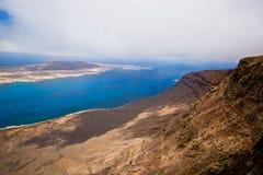 La Graciosa und Lanzarote Stockbild