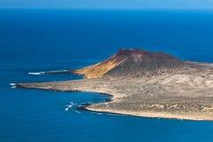 La Graciosa Volcano View In Lanzarote, Spanien Stockbilder