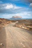 La Graciosa - on the way to Las Conchas beach Stock Photos