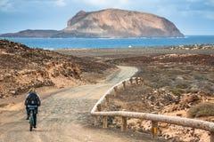 La Graciosa - on the way to Las Conchas beach Royalty Free Stock Photos