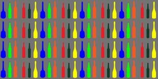 La grafica vettoriale olorful del fondo delle bottiglie del ¡ di Ð modella la struttura, carta da parati illustrazione di stock