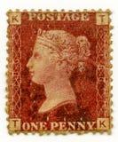 La Gran Bretagna ha annullato la regina 1864 del bollo Victoria Fotografie Stock Libere da Diritti