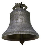 La gran campana en un fondo blanco imágenes de archivo libres de regalías