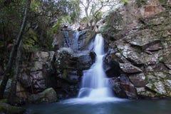 La gran cascada en sprint en el bosque profundo Fotografía de archivo libre de regalías