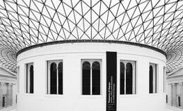 La gran corte en British Museum en Londres Foto de archivo libre de regalías