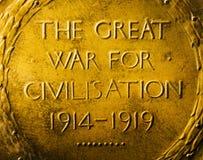 WW1/primero/gran guerra - detalle de la medalla Imágenes de archivo libres de regalías