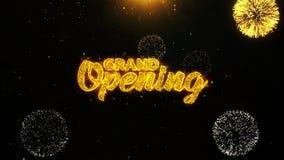 La gran inauguración desea la tarjeta de felicitaciones, invitación, fuego artificial de la celebración colocó 1