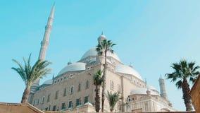 La gran mezquita de Muhammad Ali Pasha Egypt Cairo almacen de metraje de vídeo