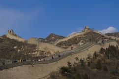La Gran Muralla de Badaling en el condado de Yanqing Pekín China construyó en 1504 durante Ming Dynasty 1015 metros sobre nivel d Imágenes de archivo libres de regalías