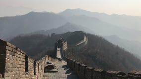La Gran Muralla de China fotografió durante d3ia sin ningunos turistas almacen de video