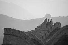La Gran Muralla de China según lo visto de Badaling imagen de archivo