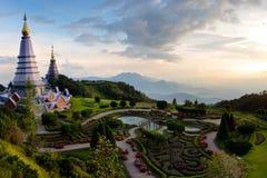 La gran pagoda santa Nabhapolbhumisiri de las reliquias Fotos de archivo
