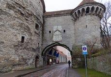 La gran puerta costera en Tallinn, Estonia Fotos de archivo libres de regalías