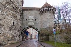 La gran puerta costera en Tallinn, Estonia Foto de archivo libre de regalías