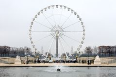 La gran Roue, Parigi, Francia Fotografia Stock