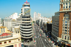 La Gran via DE Madrid Stock Foto