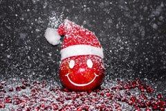 La granada de la sonrisa, Feliz Año Nuevo, casa la Navidad Imagenes de archivo