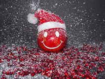 La granada de la sonrisa, Feliz Año Nuevo, casa la Navidad Foto de archivo libre de regalías