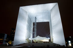 La Grand Arche at Night royalty free stock photography