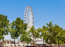 La grand Roue Ferris Wheel, près du Place de la Concorde, Paris Images libres de droits