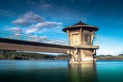La granda. The control tower granda Dam Stock Photo