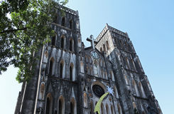 La grande église à Hanoï, Vietnam photographie stock
