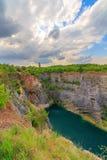 La grande Amérique - Velka Amerika est carrière de dolomite pour la production de ciment , l'Europe Images stock
