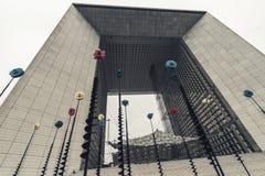 La Grande Arch de la defense in Paris Stock Photo