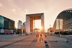 La Grande Arche στο ηλιοβασίλεμα Στοκ εικόνες με δικαίωμα ελεύθερης χρήσης