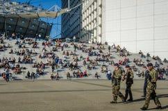 La Grande Arche στο Παρίσι, Γαλλία Στοκ εικόνες με δικαίωμα ελεύθερης χρήσης