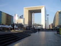 La Grande Arche. De la Defense (or Grande Arche de la Fraternité), a monument and building n the commune of Puteaux, to the west of Paris. Built in 1985 is a Royalty Free Stock Photo