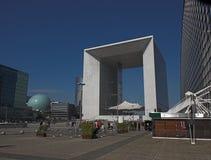 La Grande Arche, de Defensie van La, Parijs, Frankrijk Stock Foto's