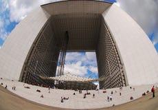 La Grande Arche de la Défense, Paris Arkivfoton