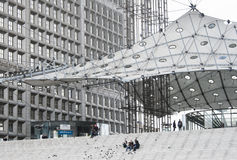 La Grande Arche, La Defense, Paris, France Royalty Free Stock Photo